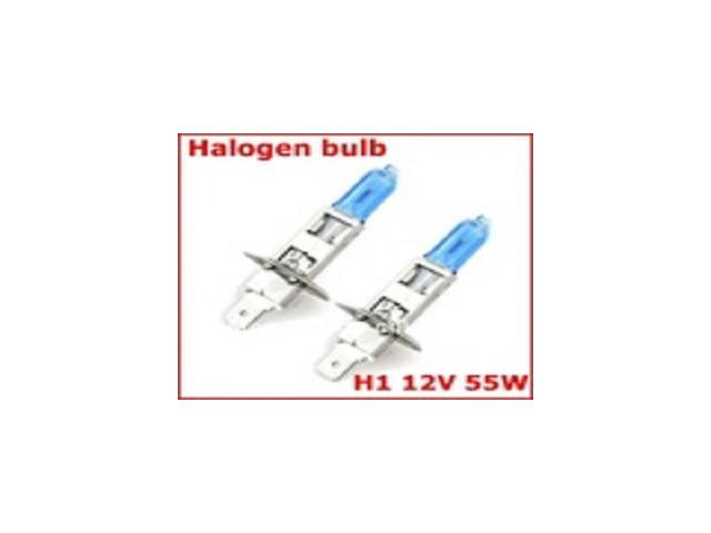 One pair Free Shipping New H1 5000K Xenon Super White Car HeadLight Bulb 12V 55w HID Halogen light Kit AAA