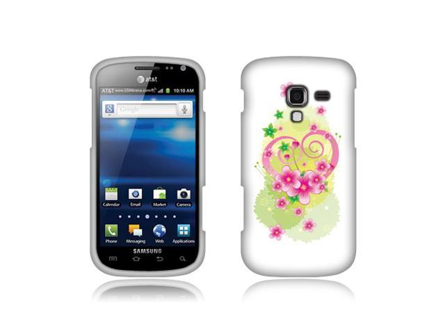 Samsung Exhilarate i577 Hard Case Cover - Flower Heart