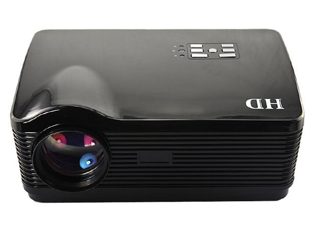 USA Shipping 3D 16:9/4:3 1080P 3*HDMI Native 1280*768 3000 lumens USB LED Multimedia HD Projector for Home Theater-Black