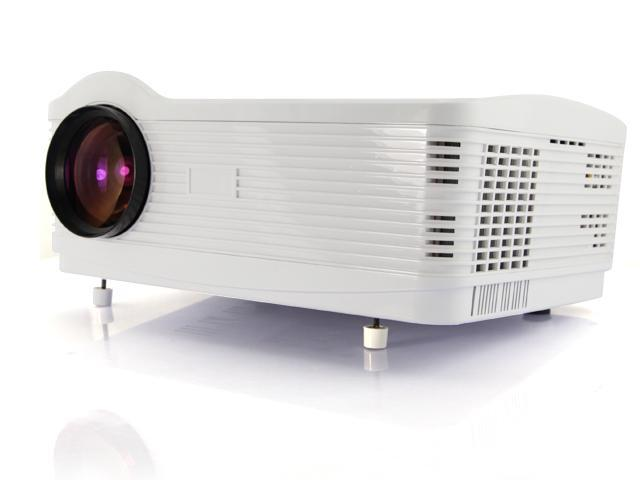 US Shipping 3D 2000:1 1080P 3*HDMI Native 1280*768 3000 lumens USB LED Multimedia HD Projector for Home Theater-White
