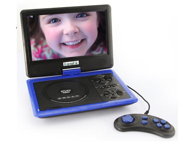 US 7.5'' Portable TFT LCD 16:9 4:3 Monitor 270° Swivel Screen DVD Player w/ Built-In USB SD Card Slot, Support AVI MPEG4 ...