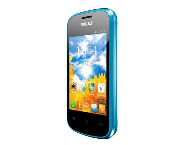 BLU Dash JR D140 Blue Unlocked GSM Cell Phone with 3.5-inch Touch Screen, 1.0GHz Processor, Android 2.3, 2MP Camera and MicroSD ...