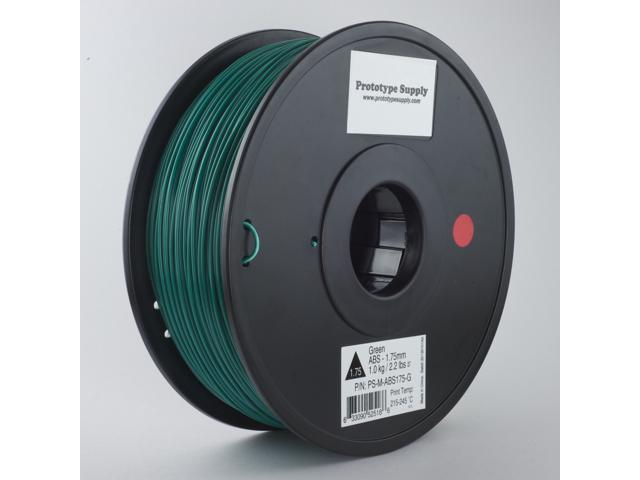 Prototype Supply ABS 3D Printing Filament 3mm Green 1kg/roll (2.2 pounds)