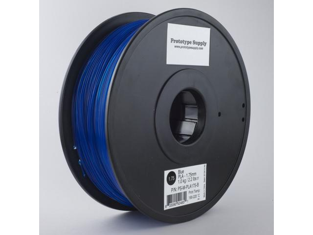 Prototype Supply PLA 3D Printing Filament 3mm Blue 1kg/roll (2.2 pounds)