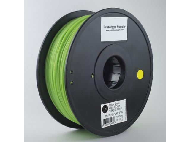 Prototype Supply PLA 3D Printing Filament 3mm Yellow Green 1kg/roll (2.2 pounds)