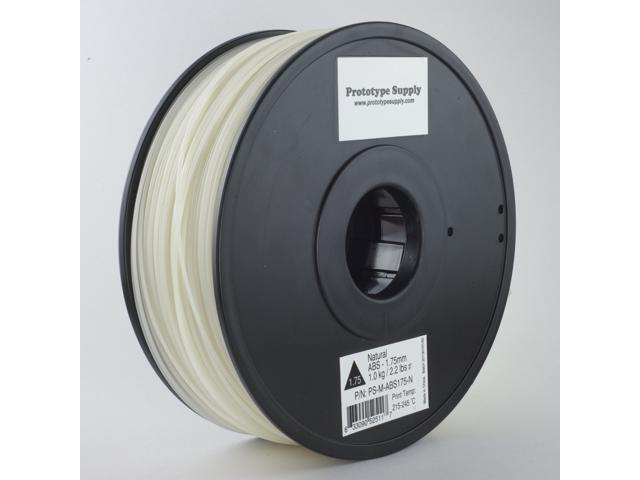 Prototype Supply ABS 3D Printing Filament 1.75mm Natural 1kg/roll (2.2 pounds)