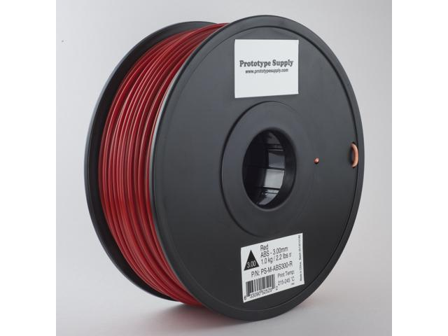 Prototype Supply ABS 3D Printing Filament 3mm Red 1kg/roll (2.2 pounds)