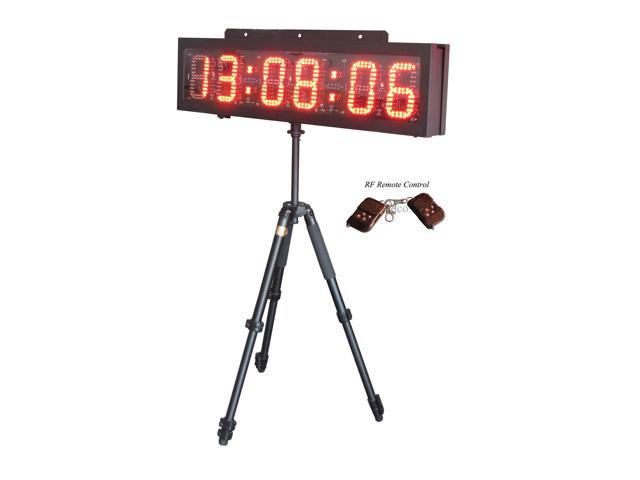 """6"""" LED Race Timing Clock LED Sports Clock for outdoor running race HH:MM:SS"""