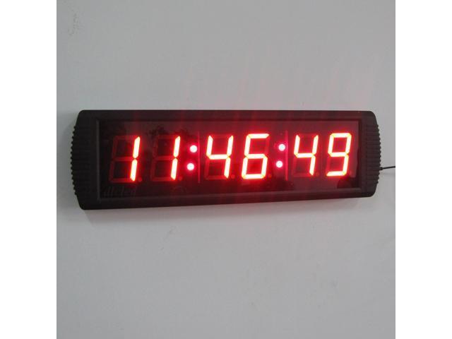 Indoor 3 LED Wall Clock LED Digital Clock for Office LED