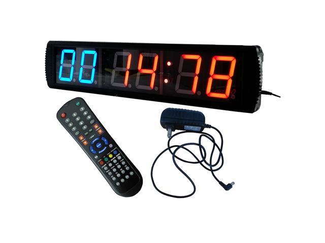 4 giant large led interval clock 6 digits gym fitness