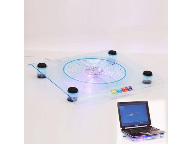 New USB 828 Big-Fan Light Cooling Pad for Laptop Notebook 14.1