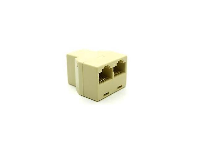 RJ45 1x2 Ethernet Connector Splitter 1 to 2 sockets Internet Cable Cat 5 6