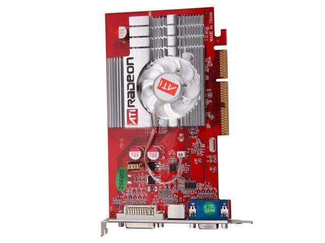 New GPU ATI Radeon 9550 256 MB DDR2 AGP 8X 3D Graphics Card DVI,S-VIDEO,VGA