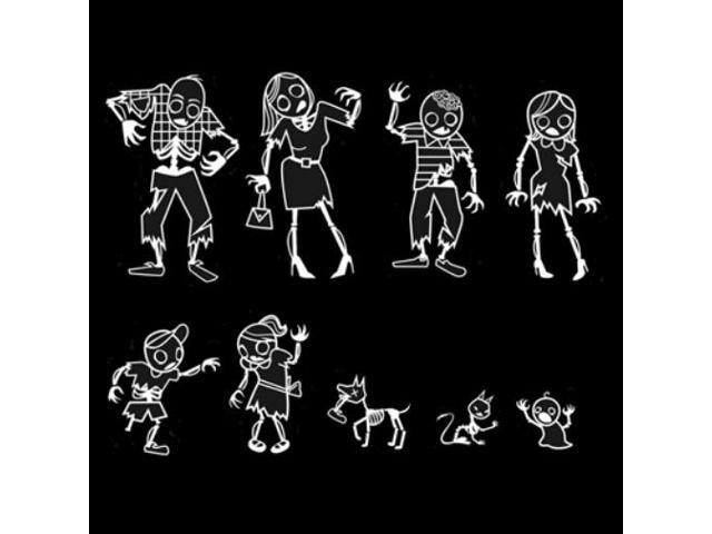 Zombie Family Decals for your Car!  Stickers for your Undead Family!