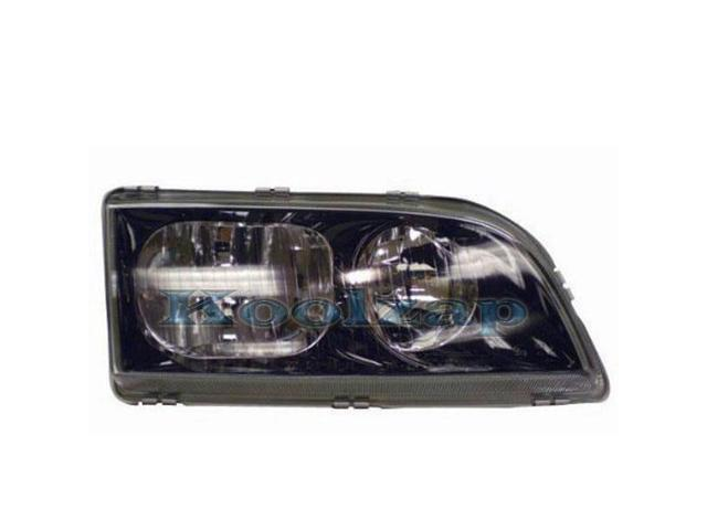 2000-2001-2002 Volvo S40 & V40 Headlight Headlamp Front Head Light Lamp (with Black Bezel) Right ...
