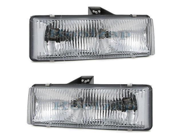 95-05 Chevy Astro Van GMC Safari Headlight Headlamp Composite Halogen Front Head Light Lamp Set Pair Left Driver And Right ...
