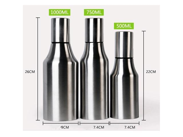 3 Sizes Stainless Steel Leakproof Drop Oil Bottle 1000ml Sauce Vinegar Pot Kitchen Tools