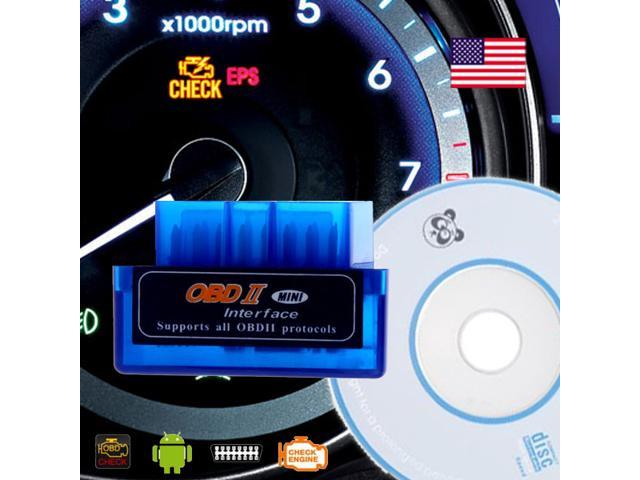 ELM327 Compatible Mini Blue OBD 2 / OBDII wireless Bluetooth Car Auto Diagnostic Code Reader Scan Tool - *US Seller*