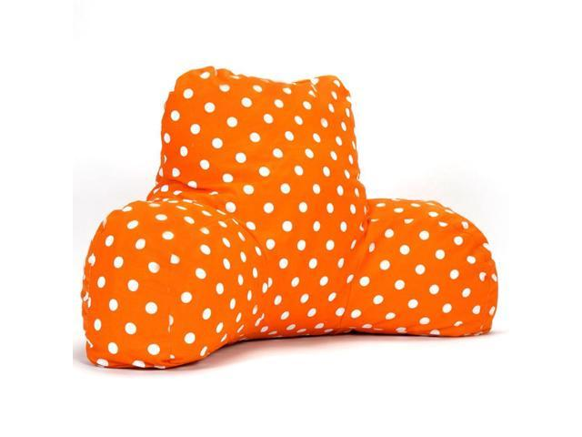 Majestic Home Goods Tangerine Small Polka Dot Reading Pillow