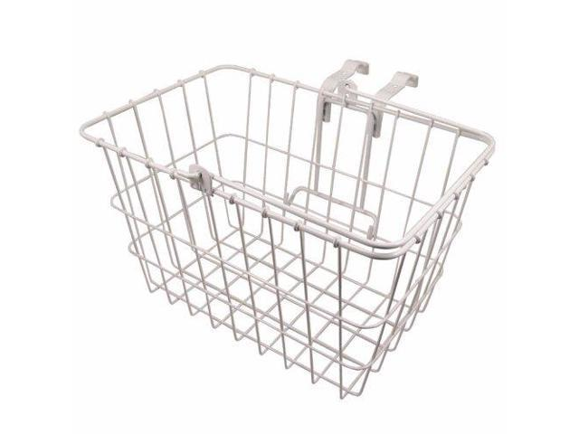 Wald 3133 Front Quick Release Basket with Bolt-On Mount: White