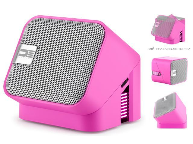 Democracy DEG100P Wireless Bluetooth Portable Speaker (Pink)