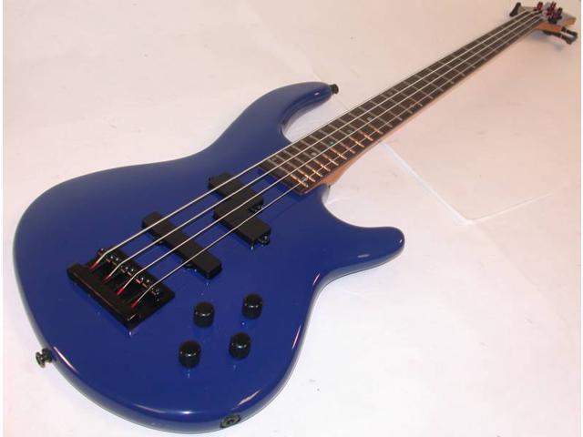 Dean Edge 4 Precison Jazz Bass Guitar, Active EQ Pickups, Deep Blue, E4 PJ DBL