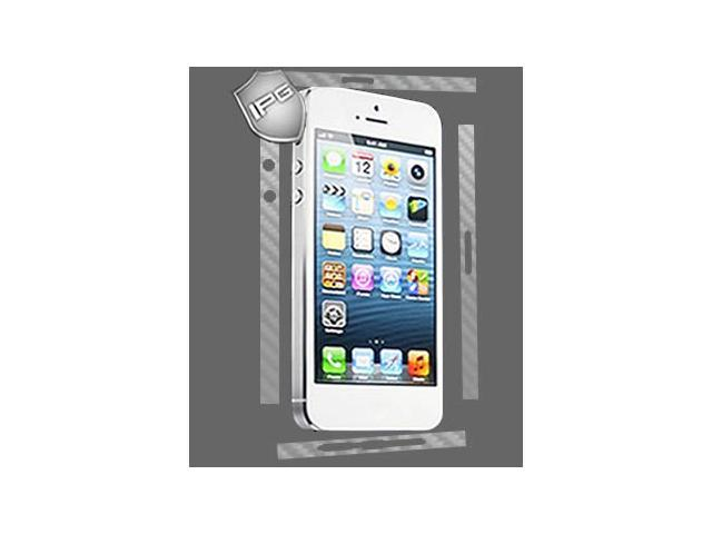 IPG iPhone 5 SILVER Carbon Fiber Skin SIDES Protector Shield Cover Bumper Frame