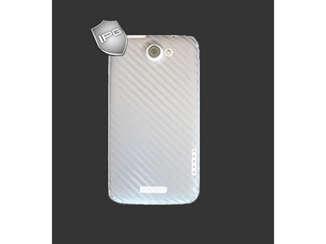 IPG HTC One XL / X+ SILVER Carbon Fiber BACK Skin Protector 3D Sticker
