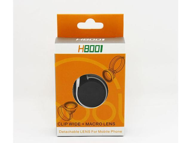 H8001 Universal Fish Eye Lens Clip Wide + Micro Lens Detachable Lens For Mobile Phone Tablet PC
