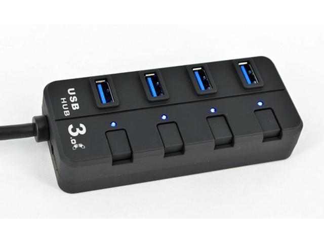 4 Ports USB 3.0 Super Speed 5Gbps USB HUB with LED Indication Switch