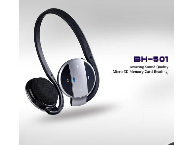 BH-501 Bluetooth Headphone Headset Portable USB Bluetooth Stereo Headset Built-in Microphone with Answer Calling Support Micro SD/TF Card