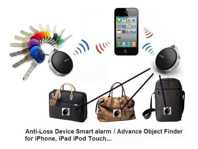 Black VTag Bluetooth 4.0 Anti-Lost Alarm Security Device Bluesmart for iPhone 5 iphone 4S iPad mini iPad 4 iPod Touch 5