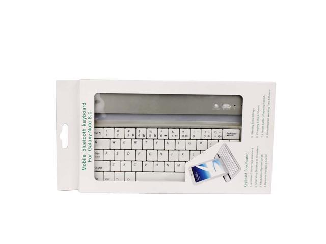 White Mobile Bluetooth Keyboard Case For Samsung Galaxy Note 8.0 inch Tablet N5100 N5110 Aluminum Slim Thin Bluetooth 3.0 ...