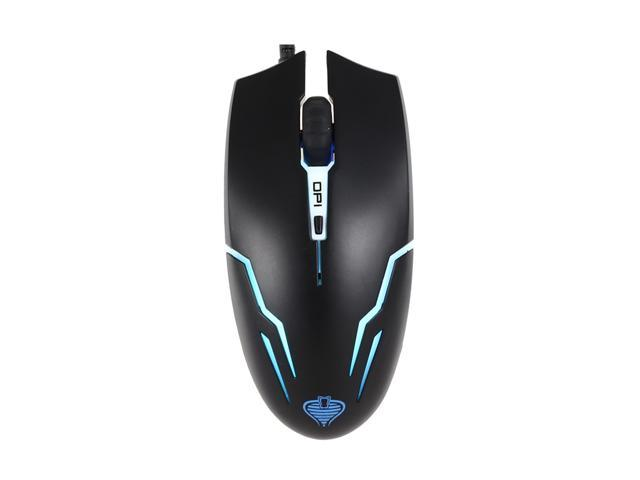 Merdia Qisan X1 USB 2.0 Wired Optical 800 / 1600 / 2000dpi Switch 4-Button High Precision Gaming Mouse w/ LED Light