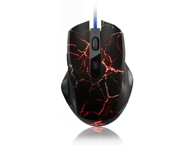 Merdia FL·ESPORTS 500-2000DPI 6 Button 4 LED Colors 6600FPS Professional Ergonomics Wired G20 Gaming Mouse (Black)