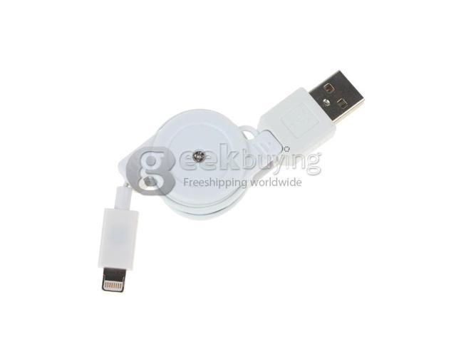 Geek Buying New Retractable Lightning to USB 2.0 Charging Sync Cable For iPhone 5 iPod iTouch