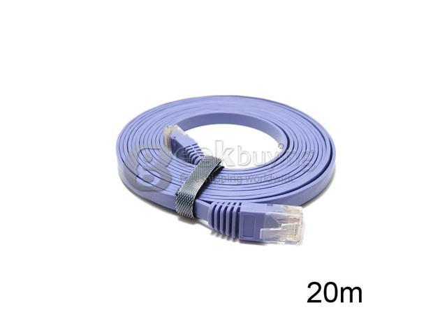 Geek Buying Ultra-thin CAT6a Flat Ethernet Patch Network Lan Cable RJ45(8P8C) to RJ45(8P8C)
