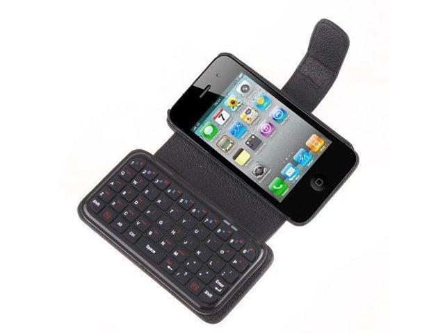 Mini Bluetooth Wireless Keyboard Case for iPhone 4 - OEM