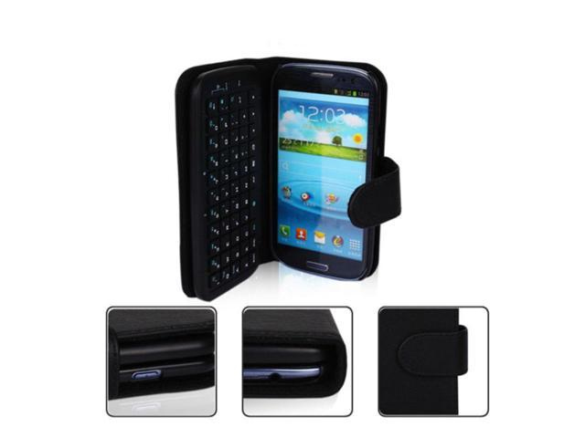Wireless Bluetooth Keyboard Leather Case Cover for Samsung Galaxy S3 SIII I9300 - OEM