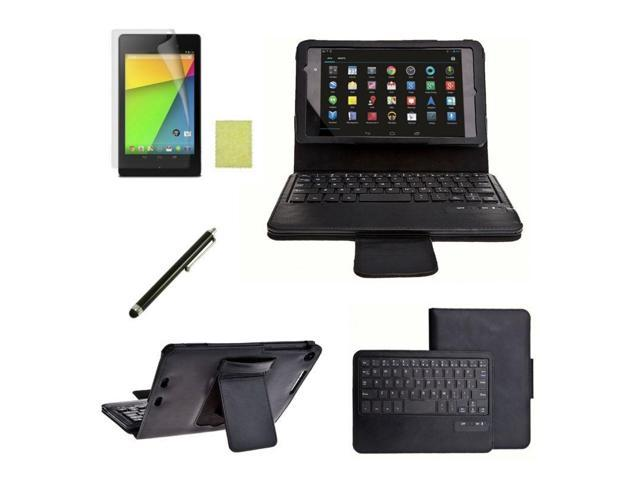 Removable Bluetooth Keyboard Case Cover Film Pen for 2nd Google Nexus 7 FHD - OEM