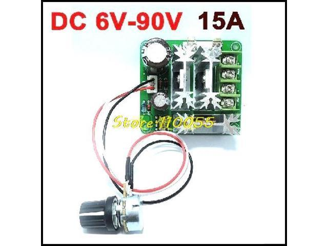 Dc 6v 90v 15a Dc Motor Speed Controller Stepless Speed