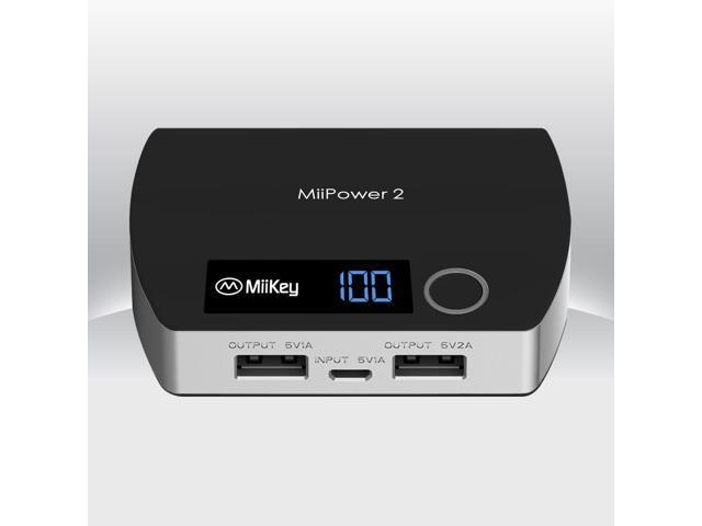MiiKey MiiPower2 Power Bank Dual Charger 5200 mAh - Black