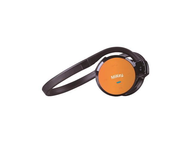 MiiKey MiiSport C Wireless Bluetooth 4.0 Headphone with Microphone, Multi-connect, Sweat-proof and HD Audio - Orange