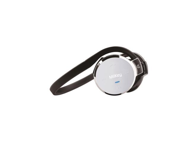 MiiKey MiiSport C Wireless Bluetooth 4.0 Headphone with Microphone, Multi-connect, Sweat-proof and HD Audio - Silver