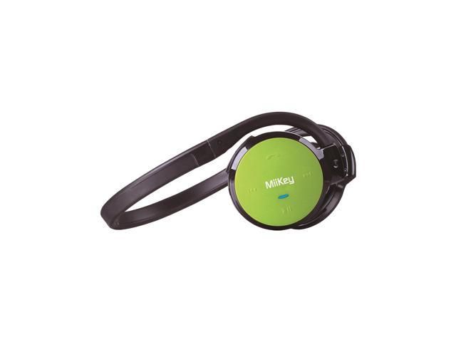 MiiKey MiiSport C Wireless Bluetooth 4.0 Headphone with Microphone, Multi-connect, Sweat-proof and HD Audio - Green
