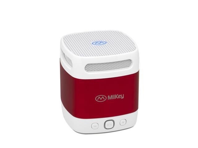 MiiBox Mini Red Bluetooth ,NFC Speaker with Microphone,Built-in music player & HD Audio