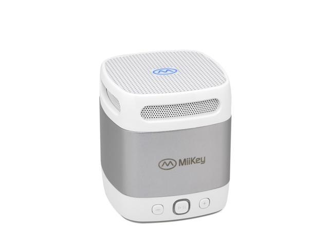 MiiBox Mini Bluetooth NFC Speaker with Microphone, Built-in Music Player & HD Audio - Grey