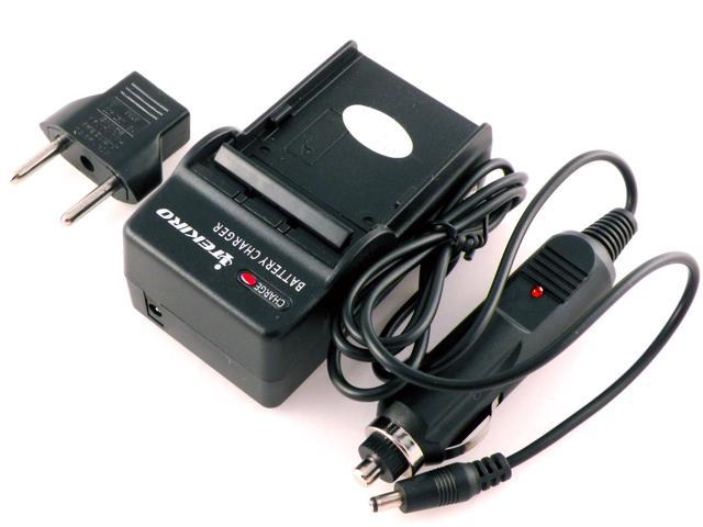 iTEKIRO AC Wall DC Car Battery Charger Kit for JVC GZ-MS216REU, GZ-MS216SEU, GZ-MS230, GZ-MS230AU, GZ-MS230AUC