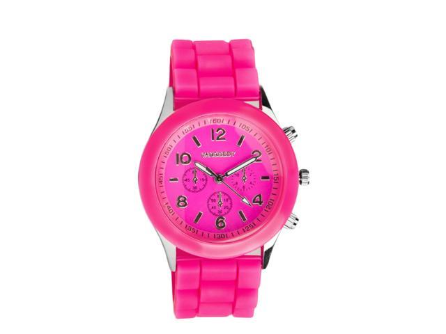 VANGODDY Classic Analog Water Resistant Stainless Steel Wrist Watch (Cute Pink)