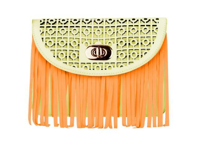 Woman's Patterned Fringe Purse Bag /w Shoulder Strap fits HTC One M8 / M9